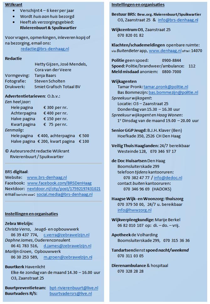 Informatie WIJkrant & Nuttige adressen